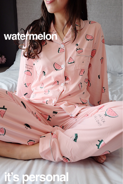 New! Woman Cotton Long Pyjama Set
