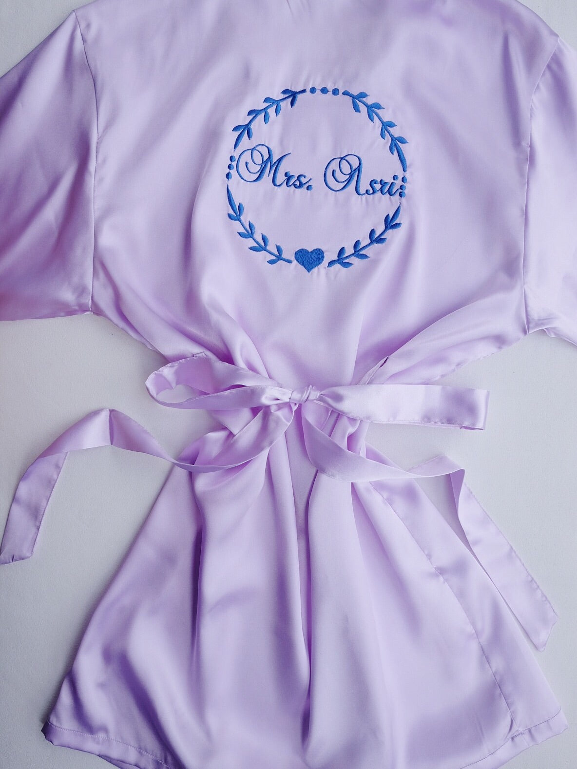 89925b7a56 Bridal Satin Robe (Personalised with embroidery name) - It s Personal
