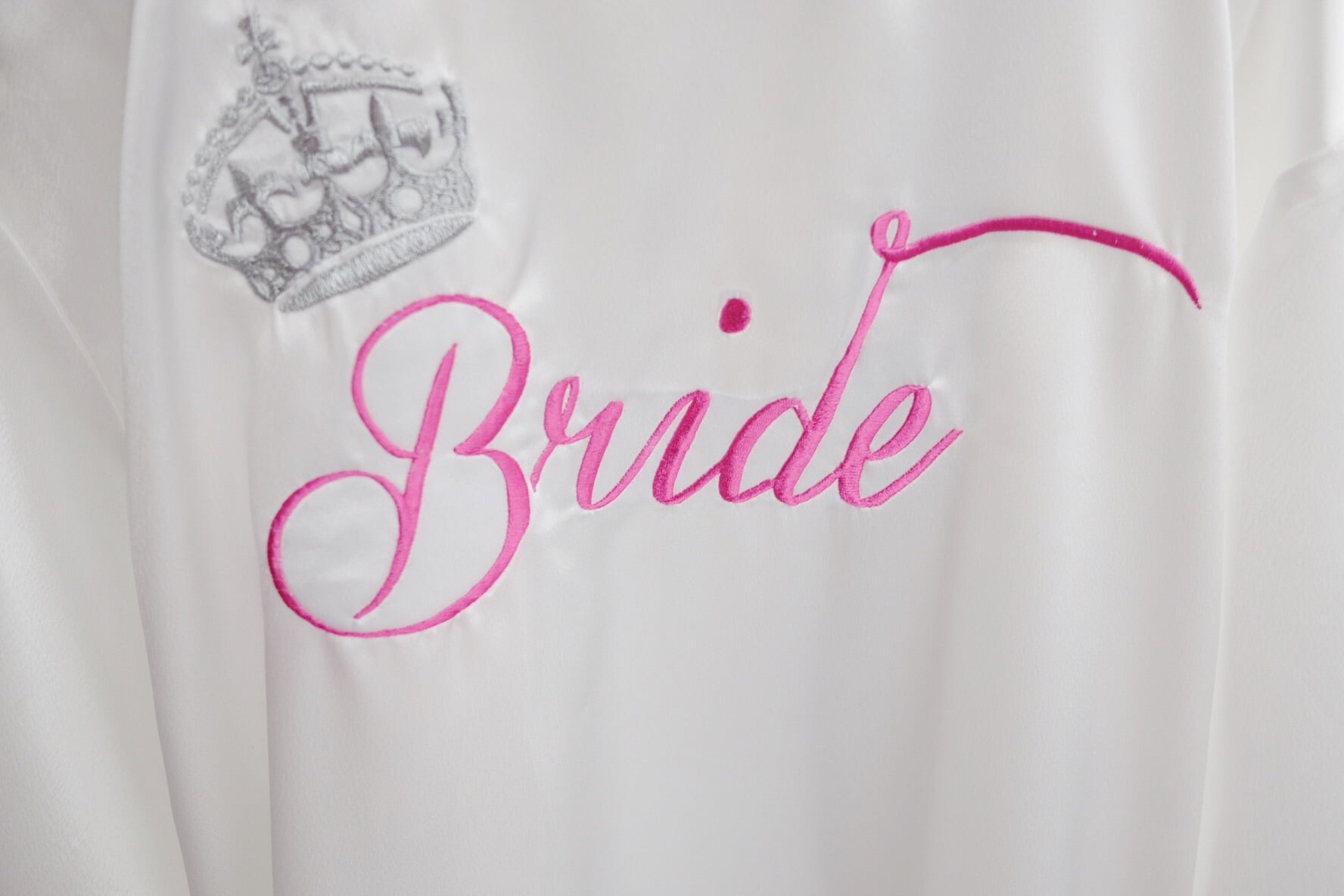Floral Bridal Party Robes with Back Embroidery - Front Can Also Be  Embroidered
