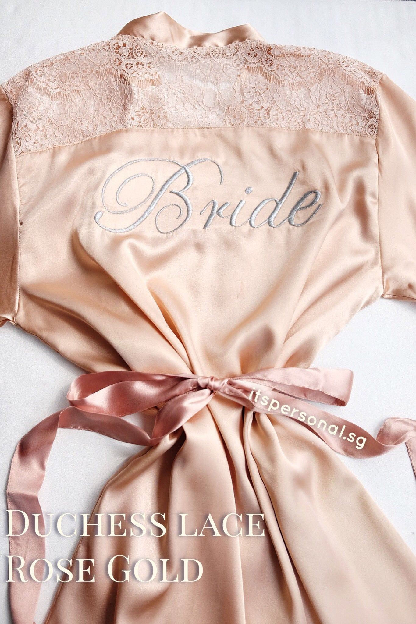 Bridal Satin Robe (Personalised with embroidery name) - It s Personal c19006404