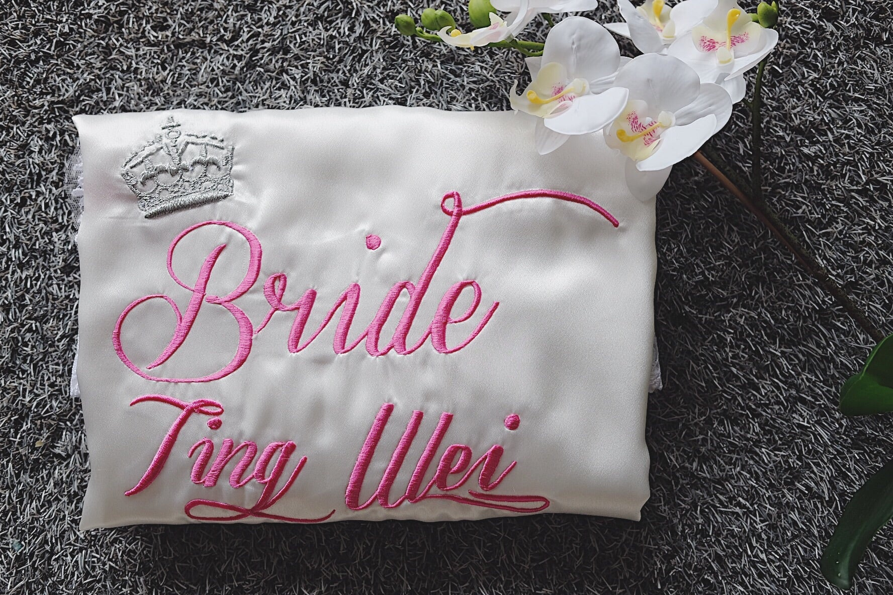 Bridal Satin Robe (Personalised with embroidery name) - It s Personal 4cf70eb76