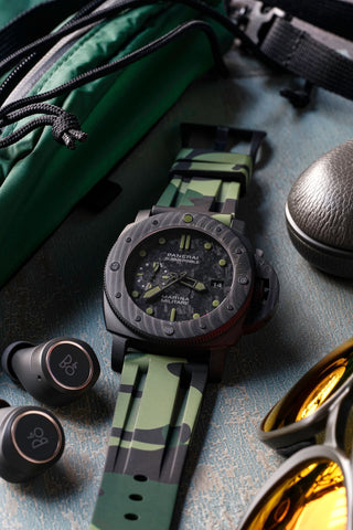 Panerai Luminor camo rubber strap