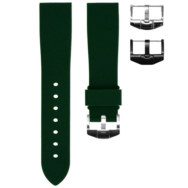 TUDOR BLACK BAY 58 STRAP - FOREST GREEN RUBBER