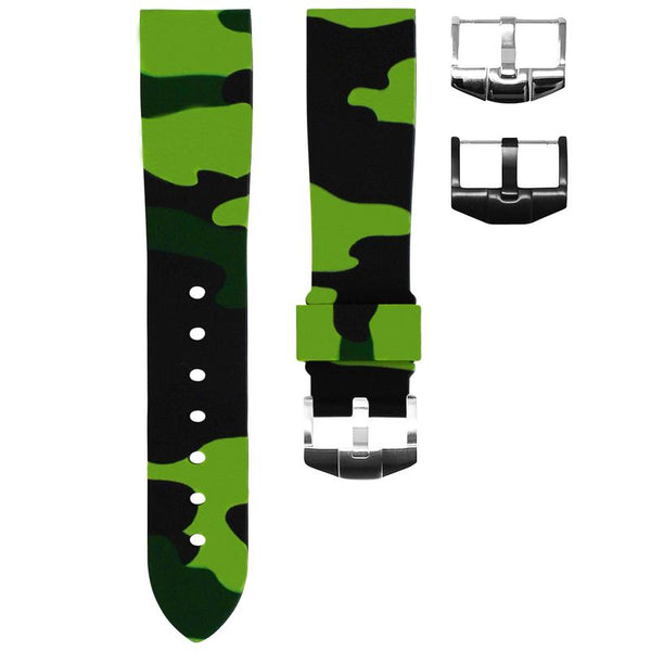 TUDOR BLACK BAY 58 STRAP - GREEN CAMO RUBBER