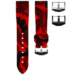 TAG HEUER FORMULA 1 STRAP - RED CAMO RUBBER