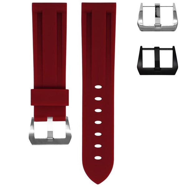TAG HEUER CARRERA STRAP - BORDEAUX RUBBER