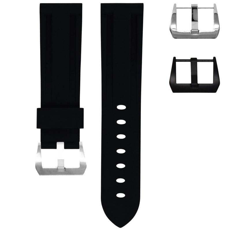 SAMSUNG GEAR S3 WATCH STRAP - JET BLACK RUBBER