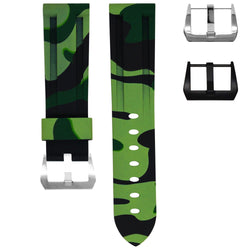 SAMSUNG GALAXY WATCH STRAP - GREEN CAMO RUBBER