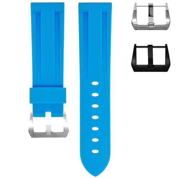 TAG HEUER CARRERA STRAP - MIAMI BLUE RUBBER