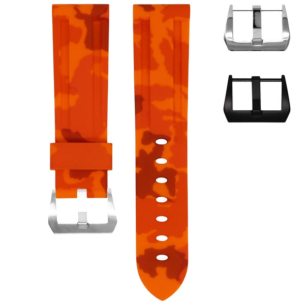 TAG HEUER MONACO STRAP - ORANGE CAMO RUBBER
