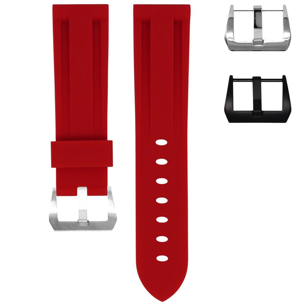 TAG HEUER MONACO STRAP - RED RUBBER