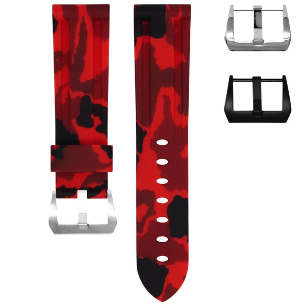 BREITLING COLT STRAP - RED CAMO RUBBER
