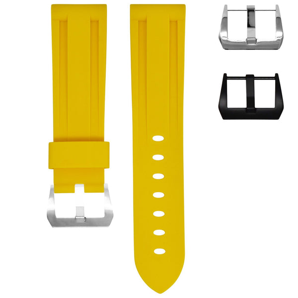 SAMSUNG GEAR S3 WATCH STRAP - YELLOW RUBBER