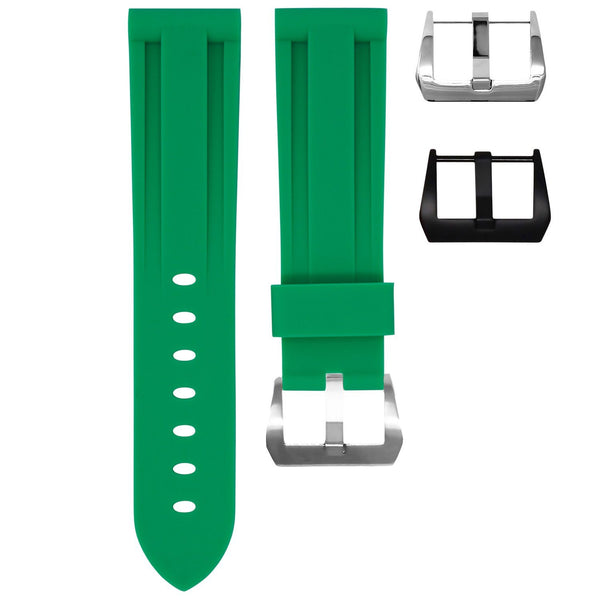 22MM LUG WIDTH STRAP - AGATE GREEN RUBBER