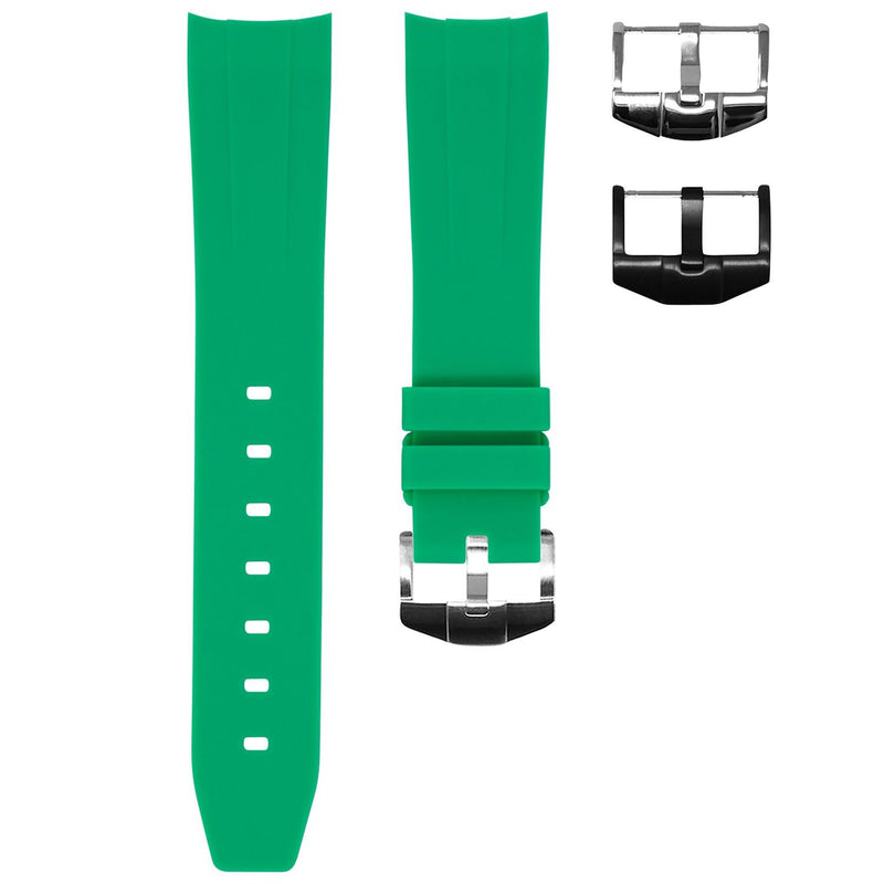 ROLEX DAY-DATE 36MM STRAP - SHAMROCK GREEN RUBBER