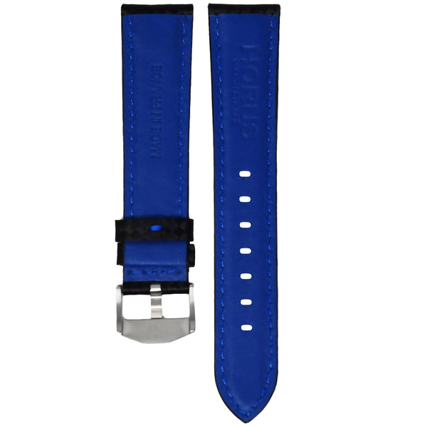 ROLEX SUBMARINER STRAP - CARBON FIBER / BLUE STITCHING