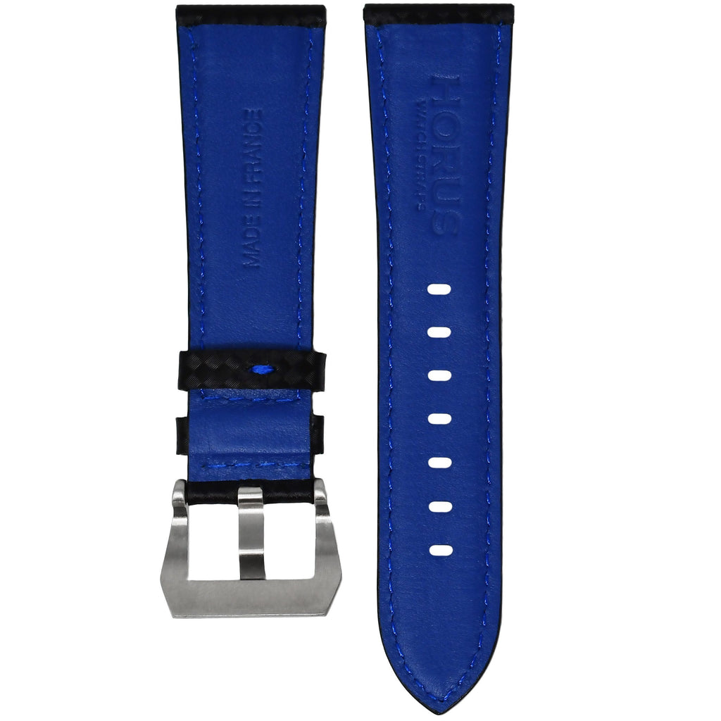 CARBON FIBER / BLUE STITCHING BREITLING PROFESSIONAL STRAP