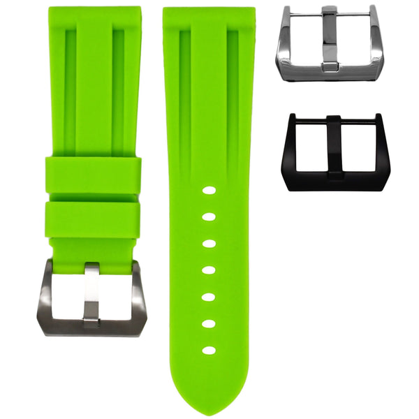 26MM LUG WIDTH STRAP - LIME RUBBER