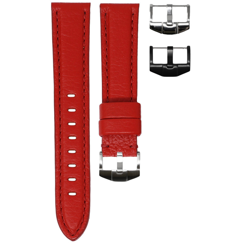 ORIS DIVERS STRAP - RED LEATHER