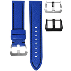 TAG HEUER CARRERA STRAP - BLUE LEATHER / BLACK STITCHING