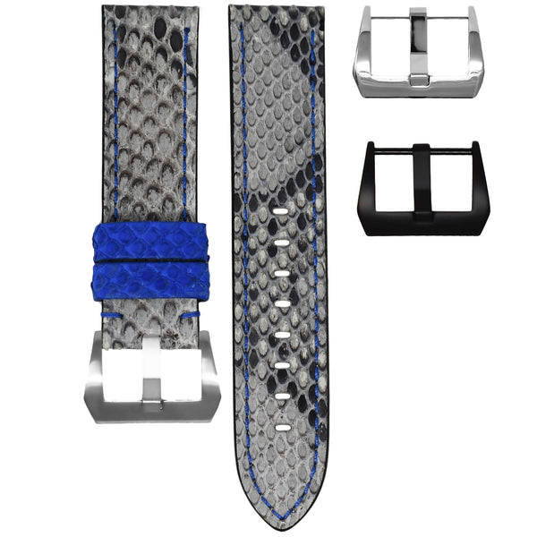 TUDOR BLACK BAY STRAP - GREY / BLUE PYTHON