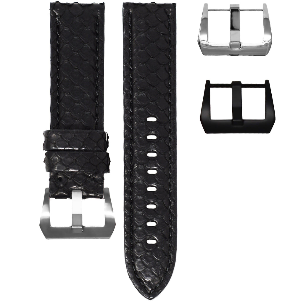 BLACK PYTHON TUDOR BLACK BAY STRAP