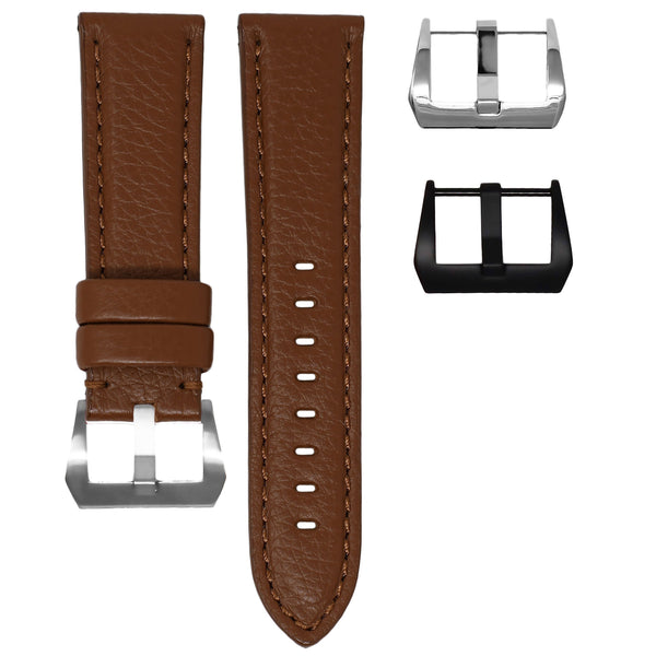 PANERAI LUMINOR STRAP - COGNAC LEATHER / COGNAC STITCHING