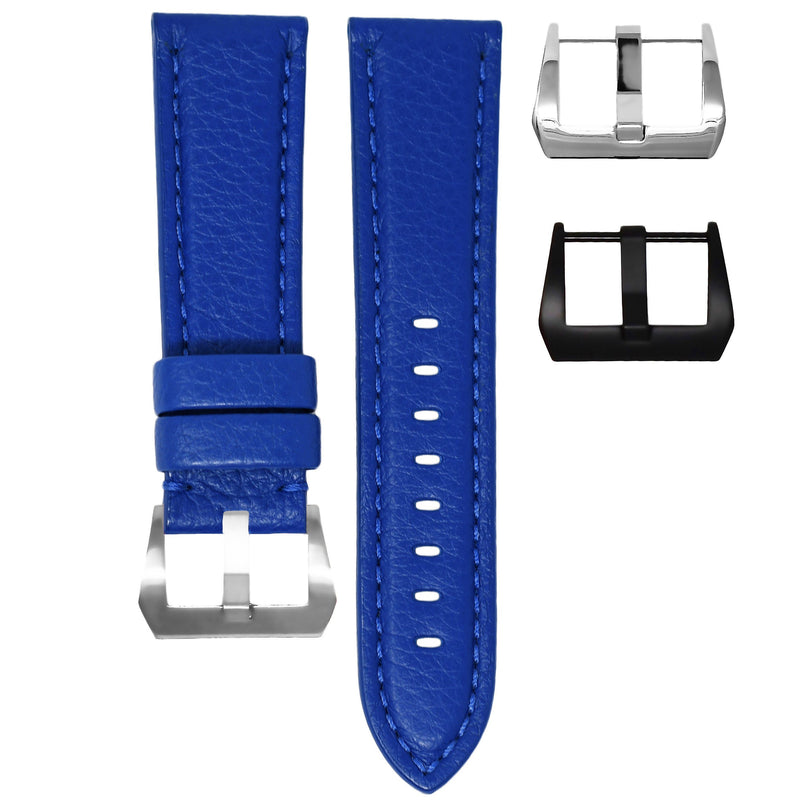 TAG HEUER CARRERA STRAP - BLUE LEATHER / BLUE STITCHING