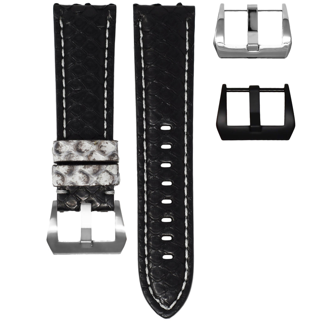 BLACK / GREY PYTHON TUDOR BLACK BAY STRAP
