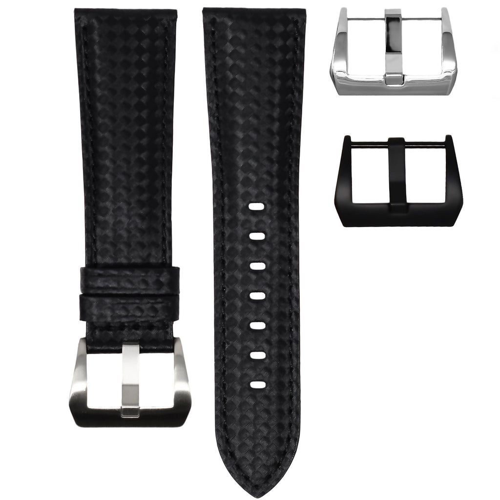 CARBON FIBER / BLACK STITCHING TUDOR BLACK BAY STRAP
