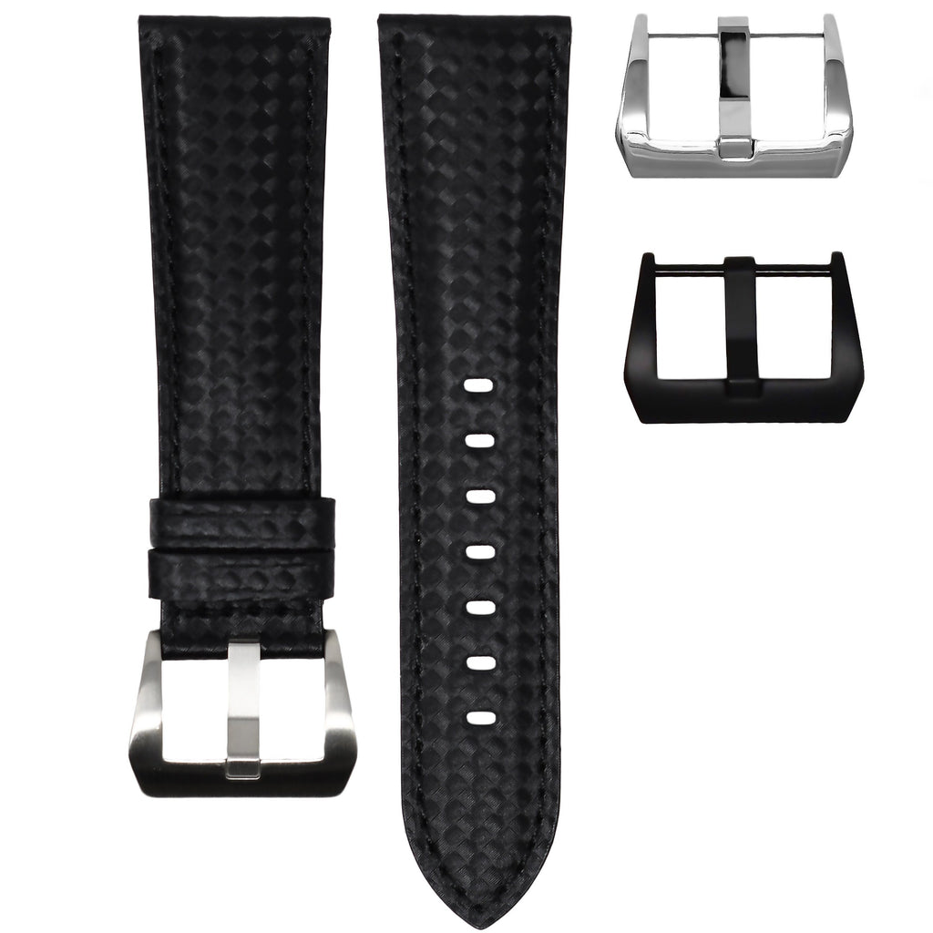 CARBON FIBER / BLACK STITCHING IWC BIG PILOT STRAP