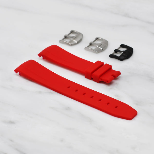 ROLEX DAY-DATE II (41MM) STRAP - RED RUBBER