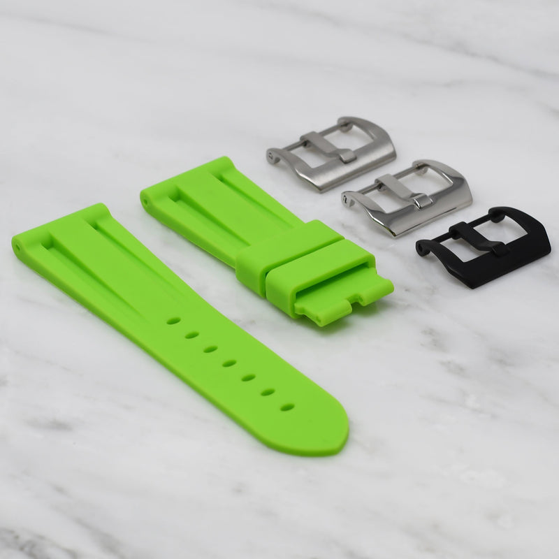 24MM LUG WIDTH STRAP - LIME RUBBER