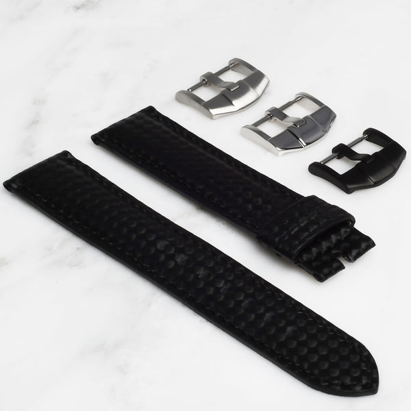ROLEX SEA-DWELLER 4000 STRAP - CARBON FIBER / BLACK STITCHING
