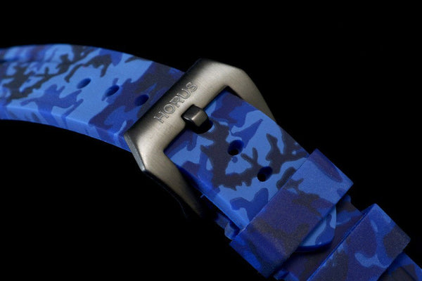 BREITLING FOR BENTLEY MOTORS T STRAP - BLUE CAMO RUBBER