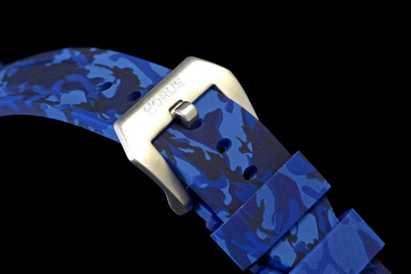 BREITLING PROFESSIONAL STRAP - BLUE CAMO RUBBER