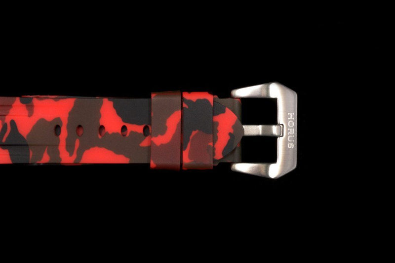 BREITLING PROFESSIONAL STRAP - RED CAMO RUBBER