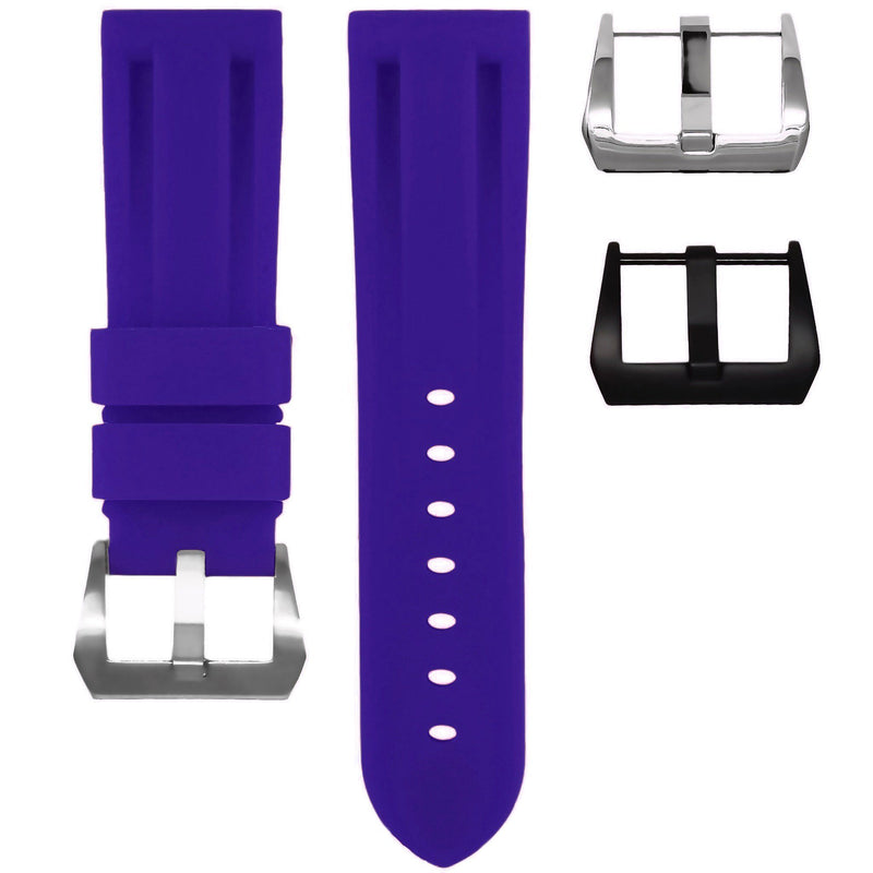 PANERAI LUMINOR STRAP - ROYAL PURPLE RUBBER