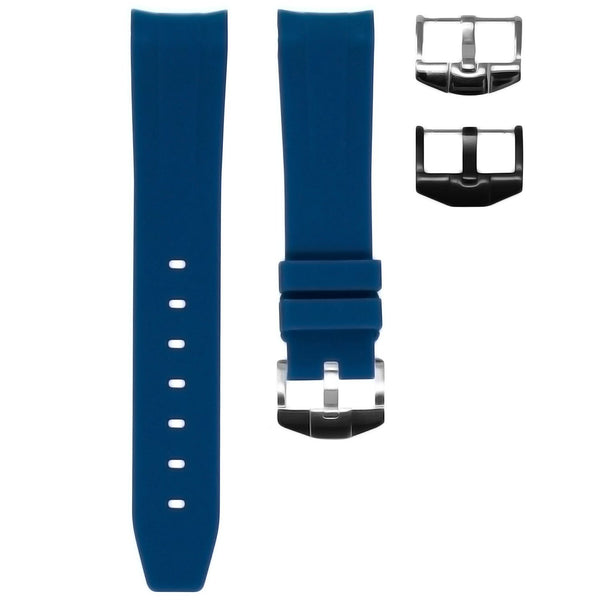 INDIGO RUBBER STRAP FOR ROLEX OYSTER PERPETUAL