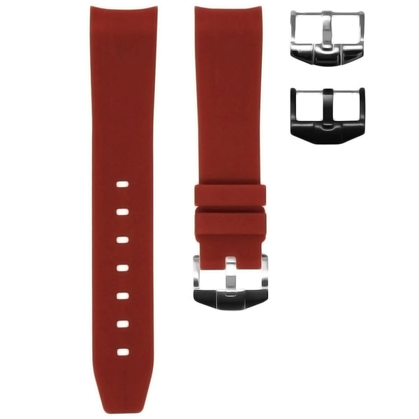 OMEGA SEAMASTER STRAP - BORDEAUX RUBBER