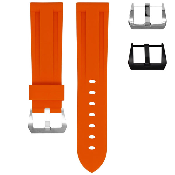 TAG HEUER AUTAVIA STRAP - TANGERINE ORANGE RUBBER