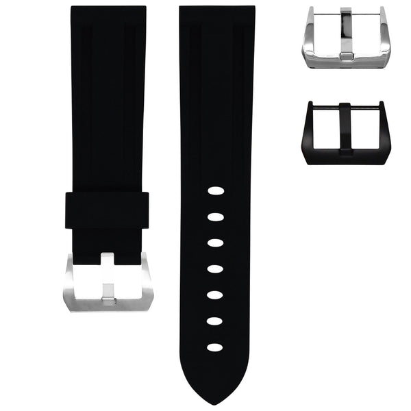 TAG HEUER CARRERA STRAP - JET BLACK RUBBER