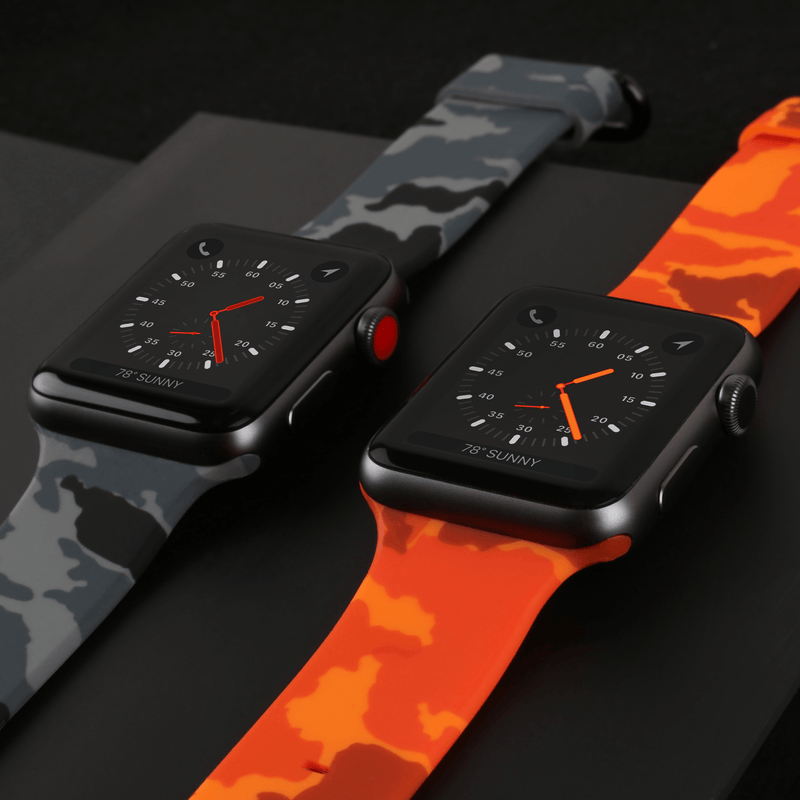 APPLE WATCH STRAP - GRAPHITE CAMO RUBBER