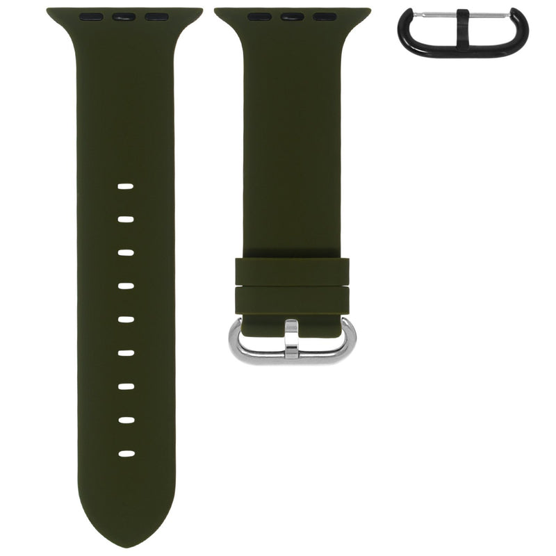 APPLE WATCH STRAP - OLIVE RUBBER