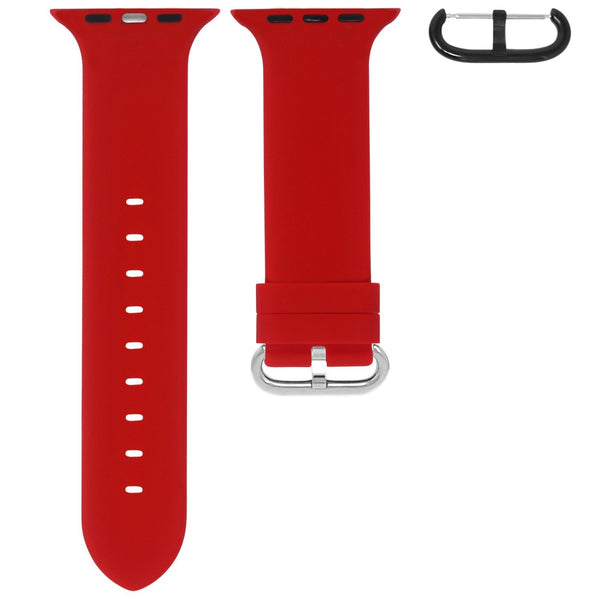 APPLE WATCH STRAP - RED RUBBER