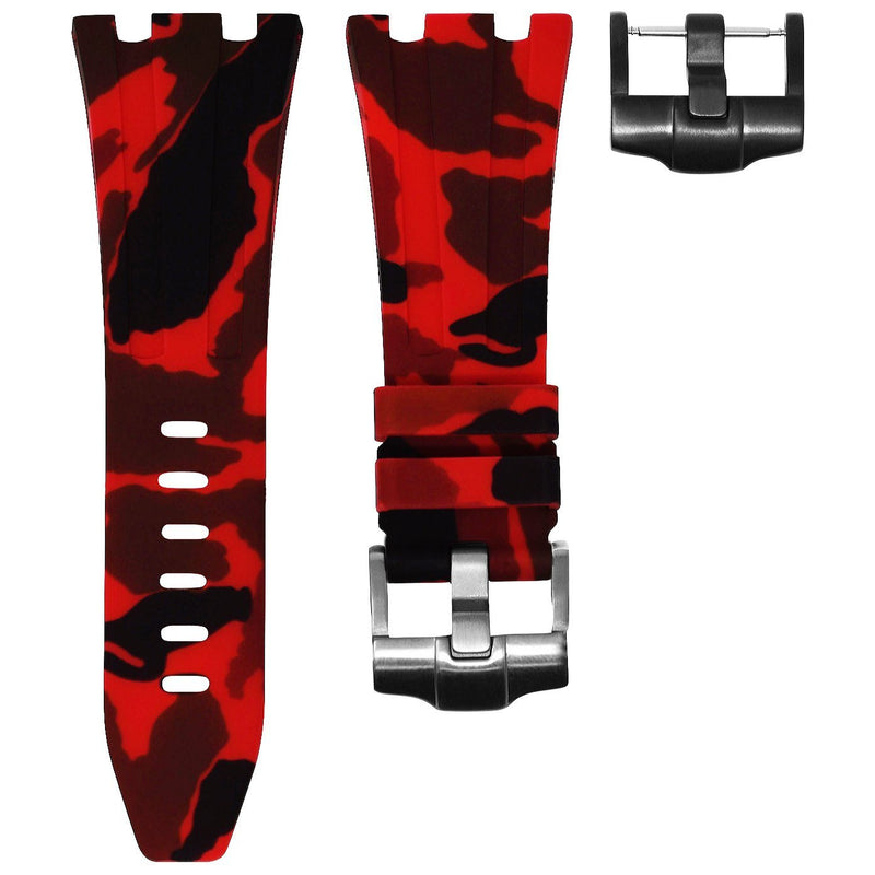 AP DIVER STRAP - RED CAMO RUBBER