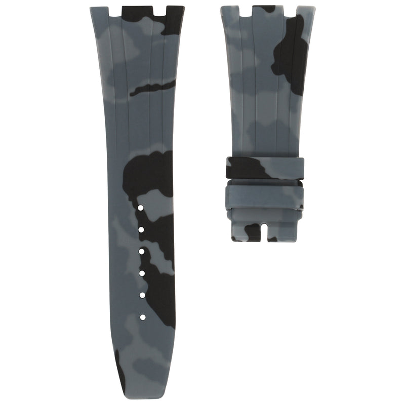 GRAPHITE CAMO RUBBER STRAP FOR AUDEMARS PIGUET ROYAL OAK 41MM