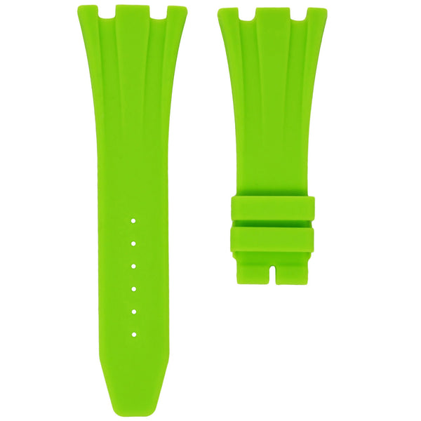 AP ROYAL OAK OFFSHORE 42MM DEPLOYANT CLASP STRAP - LIME RUBBER