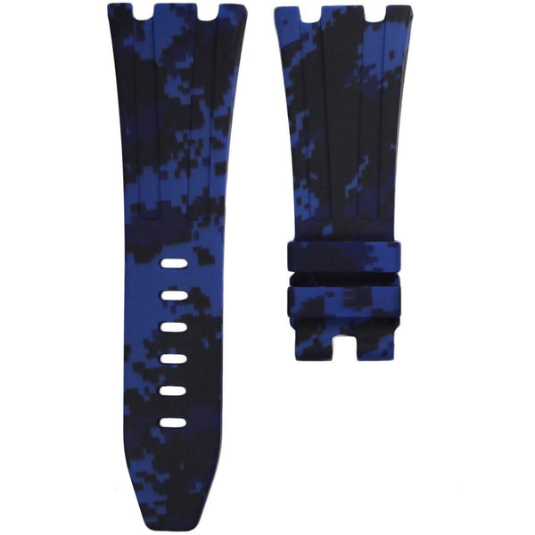AP ROYAL OAK OFFSHORE 42MM TANG BUCKLE STRAP - BLUE DIGI CAMO RUBBER