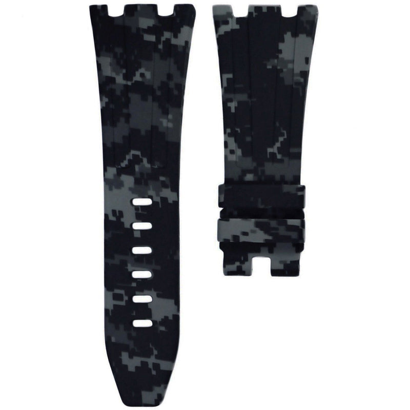 AP ROYAL OAK OFFSHORE 42MM TANG BUCKLE STRAP - GRAPHITE DIGI CAMO RUBBER